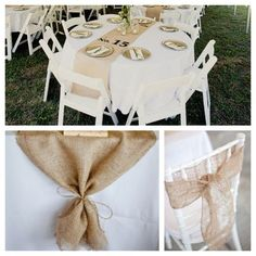 burlap wedding decorations | Burlap ideas!