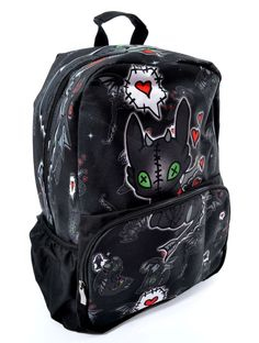 Nouveau produit : Sac à dos noir VOODOO DRAGON Krokmou poupee Vous aimez ? / New product do you like ? Prix: 39.90 #new #nouveau #japanattitude #sacs #gothique #gothic #kawaii #geek #sac #à #dos #ecole #scolaire #noir #krokmou #coeur #dragons #poupee #peluche #bag #backpack #school #black #yellow #heart #doll #plush