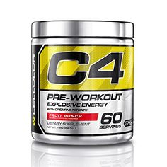 Cellucor C4 Pre Workout Supplements with Creatine, Nitric Oxide, Beta Alanine and Energy, 60 Servings, Fruit Punch, 13.75 Oz (390 g) >>> Want to know more, click on the image.  This link participates in Amazon Service LLC Associates Program, a program designed to let participant earn advertising fees by advertising and linking to Amazon.com.