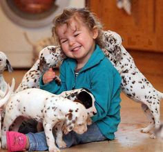 Kids and puppies! What life is all about! <3
