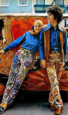 Groovy, baby!  Hippie Wanna-be's.  The REAL ones were not very neat and clean, like these two.