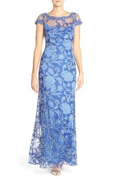 Tadashi Shoji Embroidered Lace Gown available at #Nordstrom
