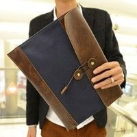 Han edition 2015 Vintage leather envelope dinner hand bag the bag bag hand holding the student file