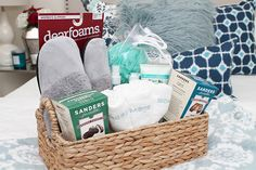 Create a welcome baskets with these essentials from Tuesday Morning! #TuesdayMorning #ad