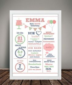 Art print & my girl DIN mural - Baby Birthday Card, Girl First Birthday, Milestone Birthdays, First Birthdays, Ikea Pictures, Baby Posters, Baby Zimmer, Baby Wall Art, Everything Baby