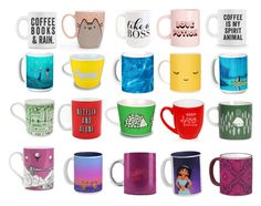 """""""Mug Pattern"""" by girlygirl1505 ❤ liked on Polyvore featuring art"""