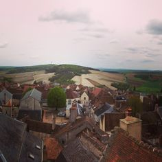 Amazing view of the silex slopes; from the rooftop of Maison des Sancerre
