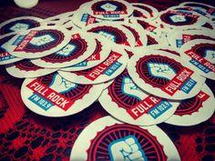 Stickers redondos con logotipo Full Rock
