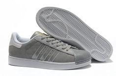 zapatillas adidas superstar 2 hombre suede g43034 gris silver