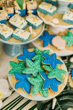 Starfish Cookies from a Tropical Seaside Bar Mitzvah on Kara's Party Ideas | KarasPartyIdeas.com (5)