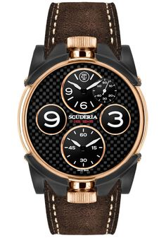 0f5fad9a2bc CT Scuderia 2 Tempi Carbon Twin Time -RoseGold Brown Aneis