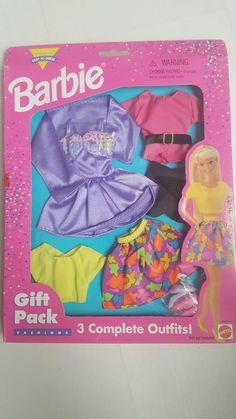 VINTAGE 1996 MATTEL BARBIE DOLL CLOTHING SETS - NEW Boxed | 8.6+2.95 1980s Barbie, Vintage Barbie Dolls, Mattel Barbie, Doll Clothes Barbie, Doll Wardrobe, Doll Outfits, Ken Doll, Bedroom Accessories, Clothing Sets