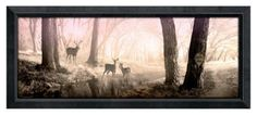 """Peaceful Morning Framed Personalized Artwork - 13.5"""" x 32.5"""""""