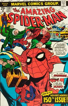 "Amazing Spider-Man vol.1 # 150, ""Spider-Man.... Or Spider-Clone?"" (November, 1975). Cover by Gil Kane & Frank Giacoia."
