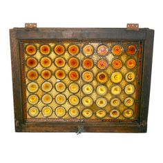 1800s Tavern Window of Rondelle and Stained Glass   Antique Stained Glass Window - $450.