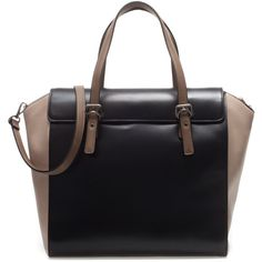 Zara Shopper Bag With Buckles ($80) ❤ liked on Polyvore