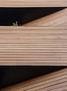 Afsharian's House by ReNa Design has vertical slice in facade Architecture Portfolio, Facade Architecture, Amazing Architecture, Architecture Models, Timber Slats, Timber Cladding, Minimalist Architecture, Facade House, Wood Texture