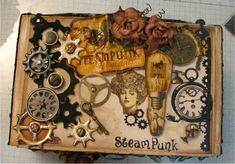 """Dee's Special Things""........: Altered Cigar Box w/Minis"