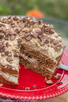 Coffee Heath Bar Crunch Cake www.confessionsofabakingqueen.com