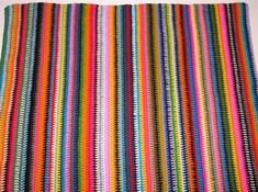vintage vertical stripe blanket