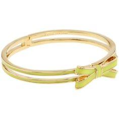 Kate Spade New York Double Bow Hinged Bangle Bracelet - Yellow