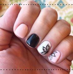 ideas black pedicure designs toenails flower nails for 2019 Gel Manicure Designs, Manicure Colors, Pedicure Nail Art, Black Pedicure, Manicure Ideas, Nails Design, August Nails, Best Nail Art Designs, Super Nails