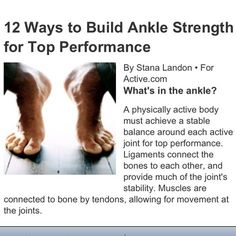 Ankle strengthening: cause I'm tired of sore ankles after a 8 miler!