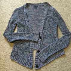 Multicolored AE Cardigan Very Cute Multicolored Cardigan. From American Eagle. Has been Pre-Loved American Eagle Outfitters Jackets & Coats