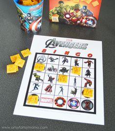 Free Printable Avengers Bingo at artsyfartsymama.com