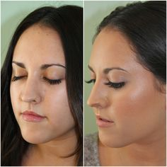 Airbrushed skin Before and After #KissableComplexions blog makeup tips and more!