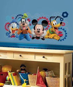 Love this Mickey Mouse Clubhouse Capers Peel & Stick Decal Set on #zulily! #zulilyfinds