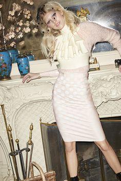 Lovers and Friends Dolly Fuzz Sweater & Shakuhachi Spotlight Pencil Skirt #ValentinesDay #NastyGal