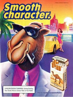 Camel 1990 Cigarette Ad - Joe White Suit & Steppin' Out - Sold, Tobacco Company Ads Vintage Cigarette Ads, Vintage Ads, Vintage Posters, Vintage Signs, Luhan, Old Advertisements, Print Advertising, Advertising Campaign, Giving Up Smoking