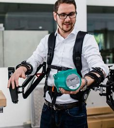 The Robo-Mate exoskeleton could give factory workers superhuman strength.