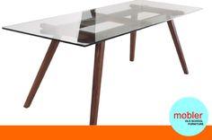 Mesa Comedor Escritorio Vidrio Moderno Diseño Retro Vintage - $ 2.950,00 en MercadoLibre