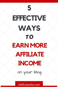 If you want to make more money with affiliate marketing, read 5 Quick Tips To Increase Affiliate Income On Your Blog. You can then follow these affiliate marketing strategies to build a passive income source blogging smarter!