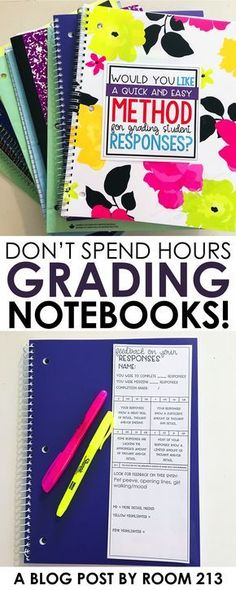 Middle and high school English teachers: save time grading journals and notebooks with this simple strategy from Room 213.