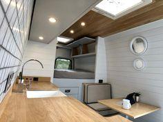 Van Conversion Shower, Van Conversion Interior, Camper Van Conversion Diy, Vw Lt Camper, Kombi Trailer, Van Wall, Kombi Home, Vw Crafter, Van Home