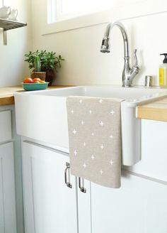 White Plus Tea Towel from Cotton & Flax