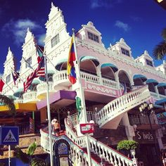 #Aruba Tips: Oranjestad - Nestled on the shores of Paardenbaai (horses bay), island capital Oranjestad sprang up at the end of the 18th century. Today, Oranjestad is a peaceful and picturesque town. Learn more: http://on.fb.me/15UTjiY (Photo by cristinvernan via Instagram)