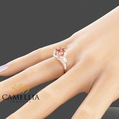 14K Rose Gold Engagement Ring Oval Morganite Ring Oval Cut