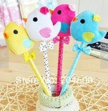 FD472 Cartoon Bowknot Chicken Dot Colorful Ball Pens Ballpen ~Random Colors~ 1PC(China (Mainland))