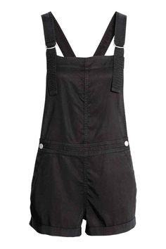 Dungaree shorts - Black - Ladies | H&M GB