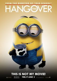 The Hangover as The Minion Hangover - Paris Disneyland Pictures Amor Minions, Minions Cartoon, Despicable Minions, Evil Minions, Minions Love, Minions Quotes, Minions Minions, Minion Stuff, Despicable Me Funny