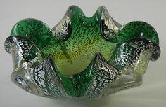 Murano Art Glass Ashtray Bowl Green & Silver  http://www.ebay.com/itm/Murano-Art-Glass-Ashtray-Bowl-Green-Silver-/330705248301?pt=LH_DefaultDomain_0=item4cff91a02d#ht_3302wt_754