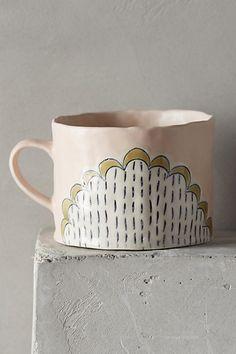 Running Stitch Mug - anthropologie.com