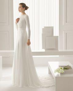Vestidos de novia de mangas largas: 10 opciones perfectas para el frío.