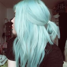 Blue hair #BlueHair #HairChalk #Blue