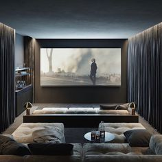 Home Theater Design is one of the most thing nowadays. We always looking for Home Theater ideas. Home Teater room design is the best choice. Home Design, Home Theater Room Design, Home Cinema Room, Home Theater Rooms, Modern House Design, Home Interior Design, Cinema Room Small, Small Movie Room, Home Theater Decor