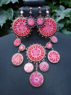 Go boho with this massive pendant extravaganza and choose the larger or smaller earring. For Hire (UK only) £45 including postage. Contact akinulic@aol.com